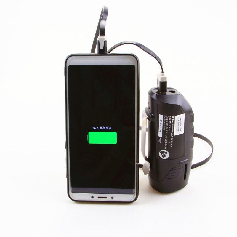 Adaptador USB de repuesto de funda de cargador para BOSCH batería profesional de iones de litio 10,8 V/12 V BHB120 adaptadores AC/DC fuentes de alimentación Cargador de batería de litio serie 10 36-42V 2A cargador 42V cargador de batería de litio para vehículo eléctrico conector de paquete de batería de litio