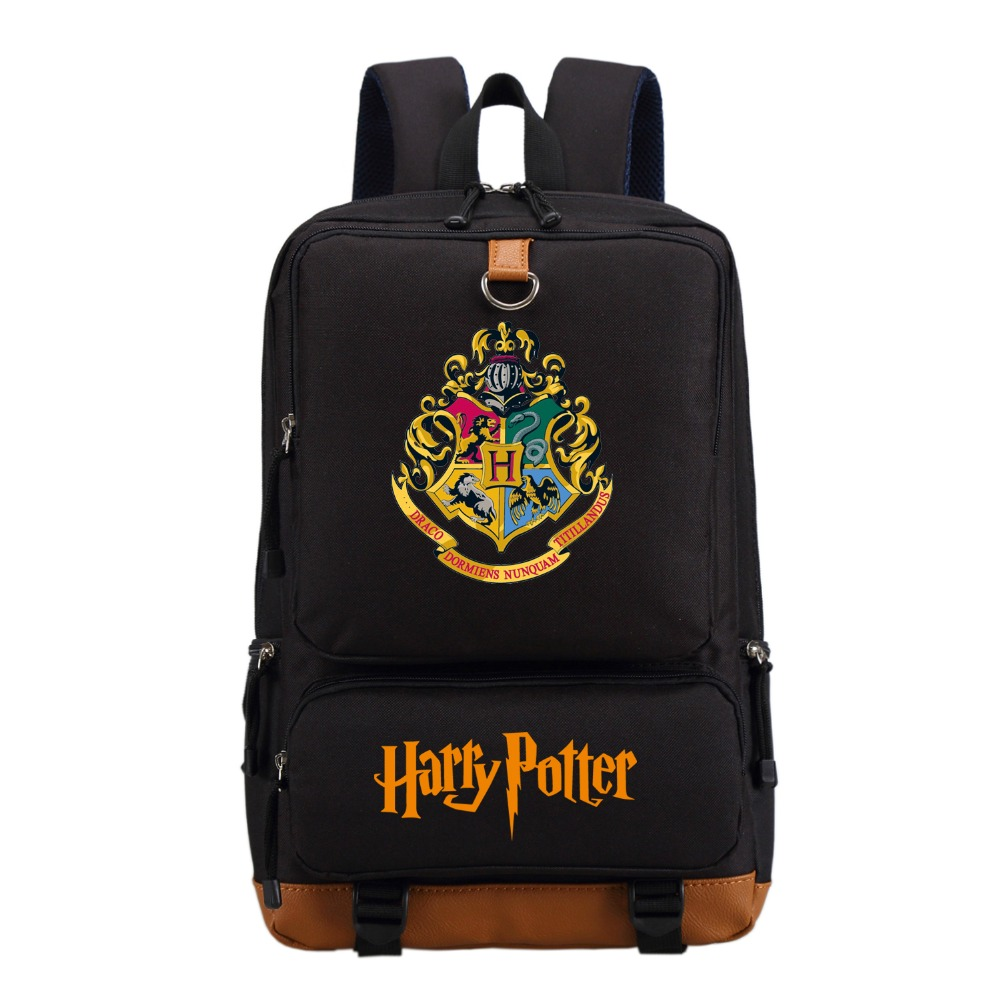 Wishot Harry Potter School Bags Gryffindor Backpack Slytherin Travel Bag For Teenagers Ravenclaw Hufflepuff Shoulder Bags #2