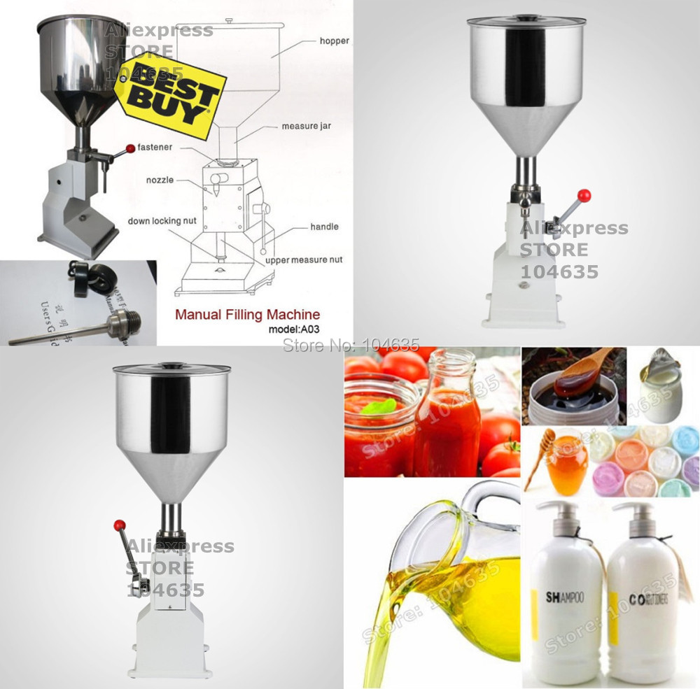 Manual Hand Pressure Stainless Paste Filling Machine Dispensing Liquid Packaging Equipment Sold Cream Machine 0~50ml