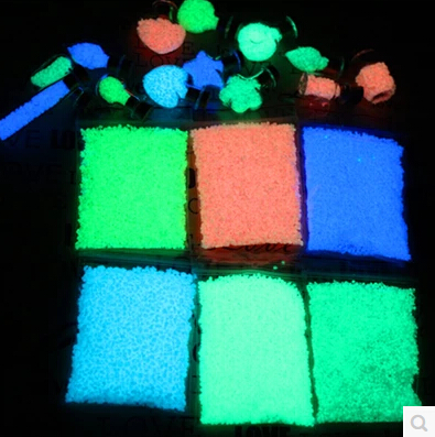 500g Luminous glowing sand Colorful noctilucent spall glow at night Wishing Sand Stone Nail Art Yard