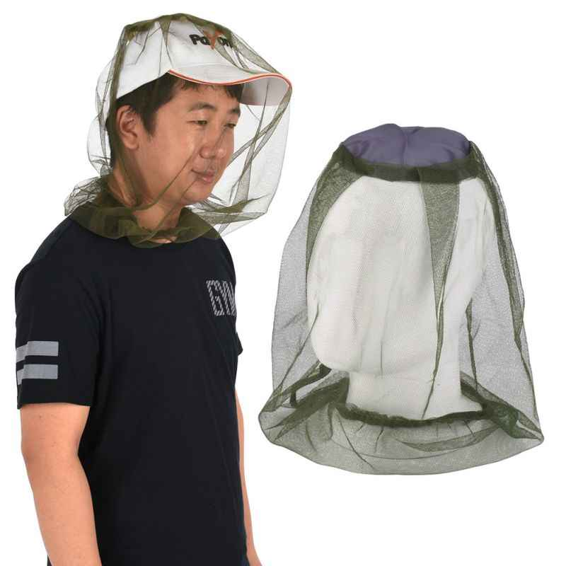 Midge แมลงยุงหมวกตกปลาหมวก Bug ตาข่ายตาข่าย Face Protector Camping