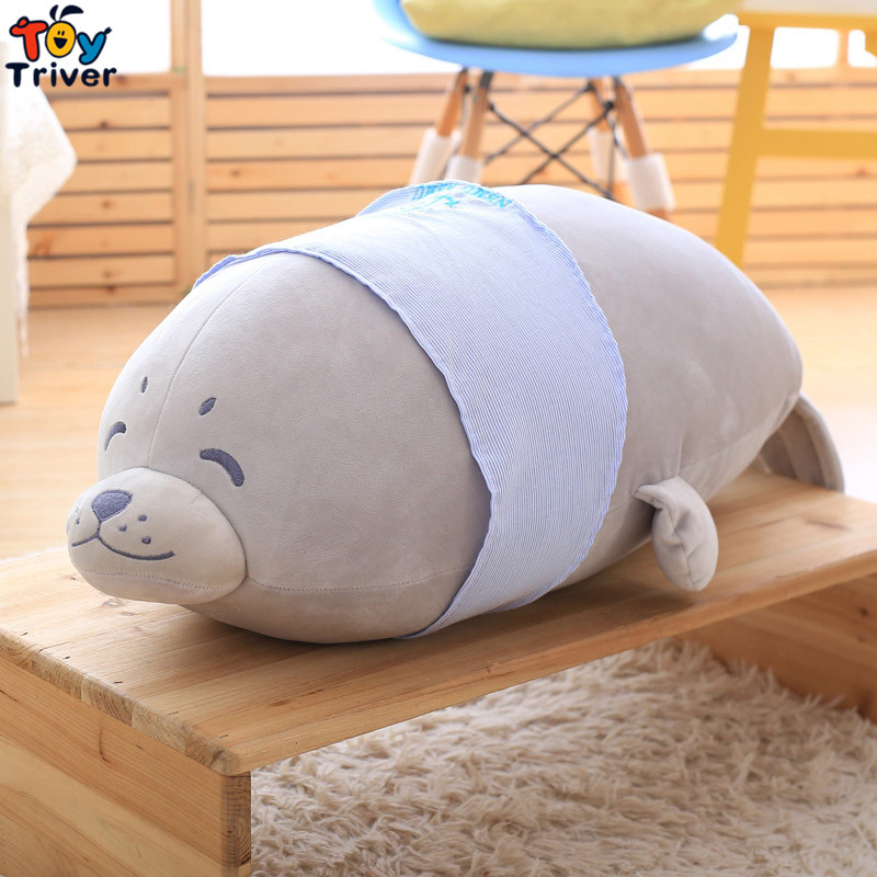 Quality Soft Plush Sea Lion Toy Pillow Cushion Stuffed Doll Kids Children Baby Boy Friend Birthday Gift Home Shop Deco Triver forest lion stuffed plush toy pencil case kids child coin bag gift free shipping