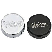 Cubierta de depósito de líquido de aceite delantero para motocicleta, cromado, negro, para Kawasaki Vulcan VN 500 750 800 900 1500 1600 1700 2000