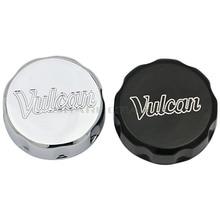Motorcycle Chrome Black Front Oil Fluid Reservoir Cover Cap For Kawasaki Vulcan VN 500 750 800 900 1500 1600 1700 2000 BRAND NEW