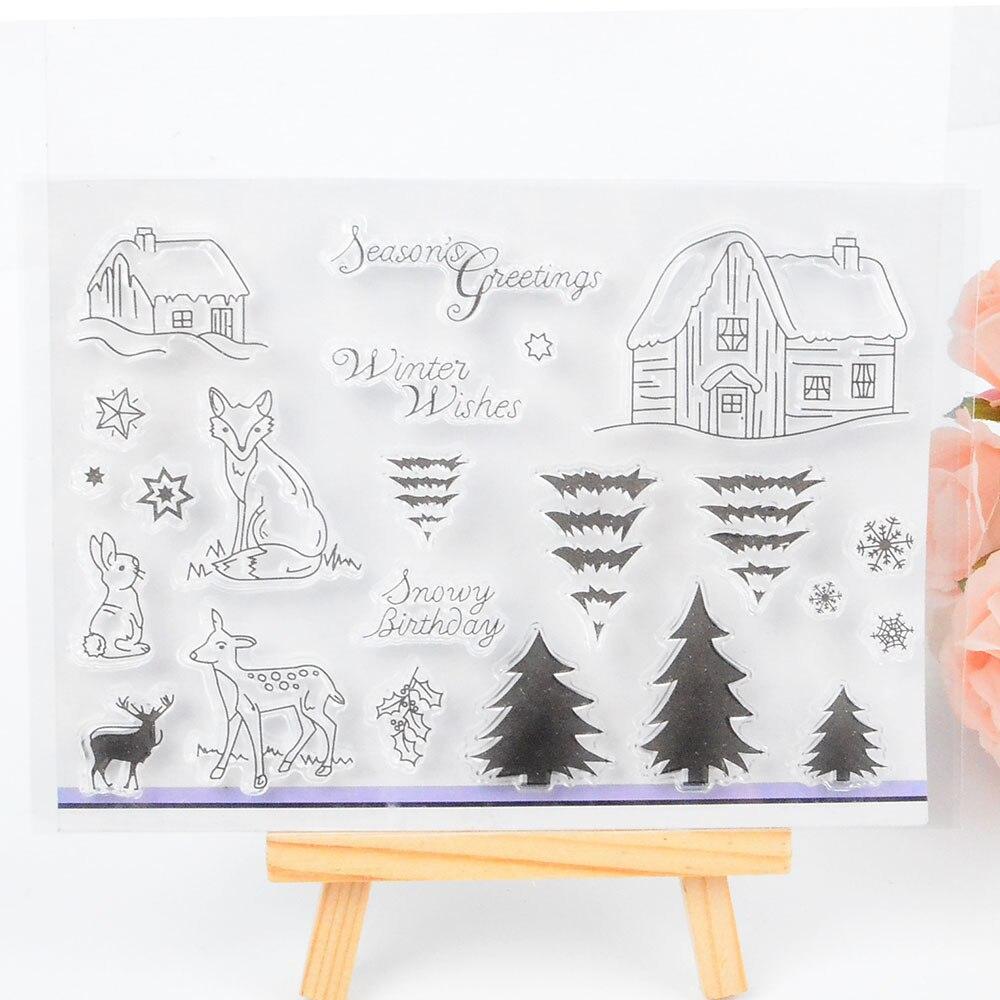 DECORA 1PCS Gift Design Silicone Transparent Clear Stamp DIY Scrapbooking Christmas Decoration Supplies