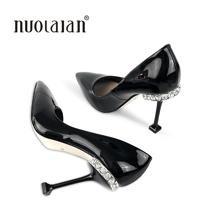 2018 Brand fashion women pumps crystal high heel pumps shoes for women sexy pointed toe high heels party wedding shoes woman 2016 woman high heels pumps thin heel women s shoes pointed toe high heels wedding shoes brand fashion shoes