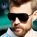 ШОНА Складной Мужчины Без Оправы Поляризованных Солнцезащитных Очков Классический Черный Пилот Очки Синие Лучи Защиты UV400