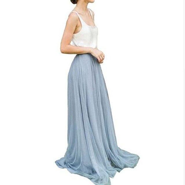U-SWEAR Maxi Long Skirt Women Tulle skirt summer 2018 Plus Size Women wedding Bridesmaid skirt Autumn Tutu Skirt For Women Drop 1
