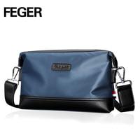 FEGER Fashion Brand Long Waterproof Oxford Cloth Clutch Wallet Male Zipper Phone Bolsas Men Camouflage Clutch