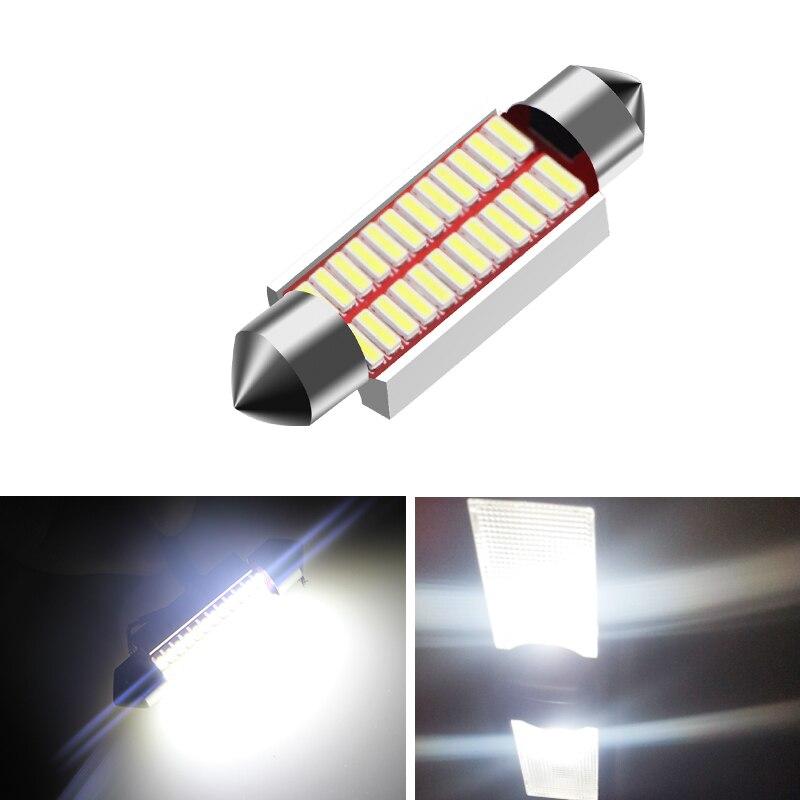 High Quality 31mm 36mm 39mm 42mm C5W C10W Super Bright 4014 SMD Car LED Festoon Light Canbus Error Free Interior Doom Lamp Bulb