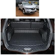 Lsrtw2017 волокно кожа багажник автомобиля коврик для renault koleos 2016 2017 2018 2019 renault samsung QM6