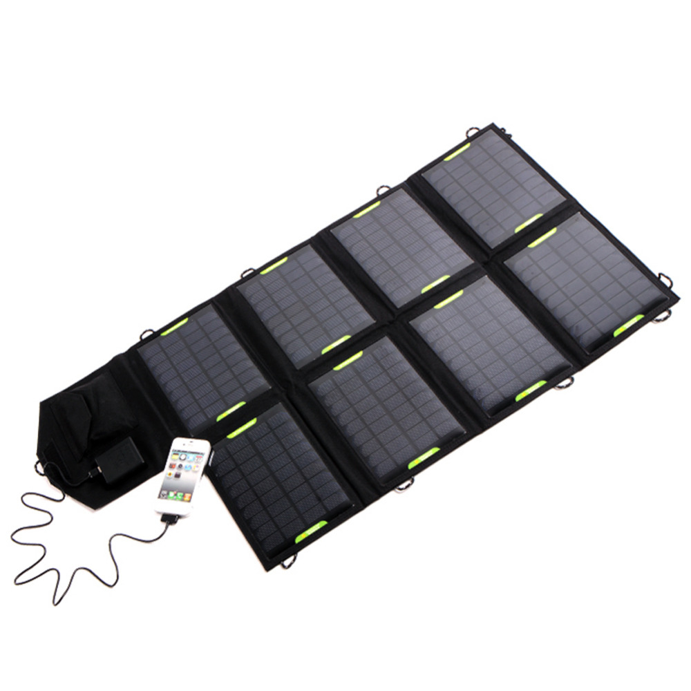 Outdoor Solar Power 18V 28W Solar USB Panel Battery Power Bank Pack Solar Charger For Laptop Tablet for iPhone For Samsung S6