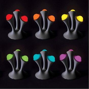 크리 에이 티브 버섯 키즈 선물 무지개 다채로운 led 밤 빛 boon 이동식 공 어린이 잠자는 장난감과 led 램프
