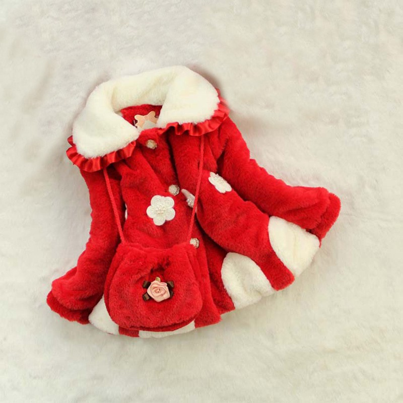 Baby Girls Flower Lace Warm Infantil Menina Winter Thickened Jackets Outerwear Kids Clothes Children Down Coat 2015 winter clothes new high end brand children s clothing exquisite lace flower adornment waist thickened
