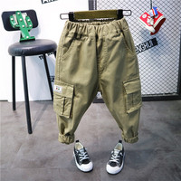 Spring Autumn Baby Boy Pants Children Harem Pants Cotton Casual Pants for Boy Bloomers Vintage Retro Trousers 2 Years Army Green
