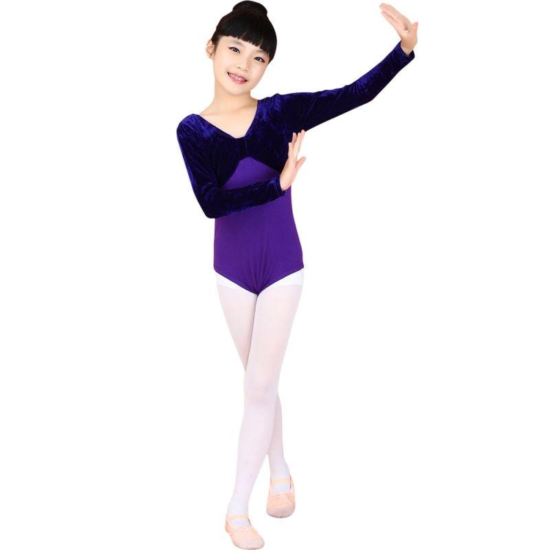 b547fc1ff149 7993 Kids Dance Gymnastics Skirt Dress Stretch Bodysuit Girls Top T ...