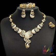 Wedding necklace sets dubai bridal 18 karat gold plating jewelry set New fashion jewelry for women