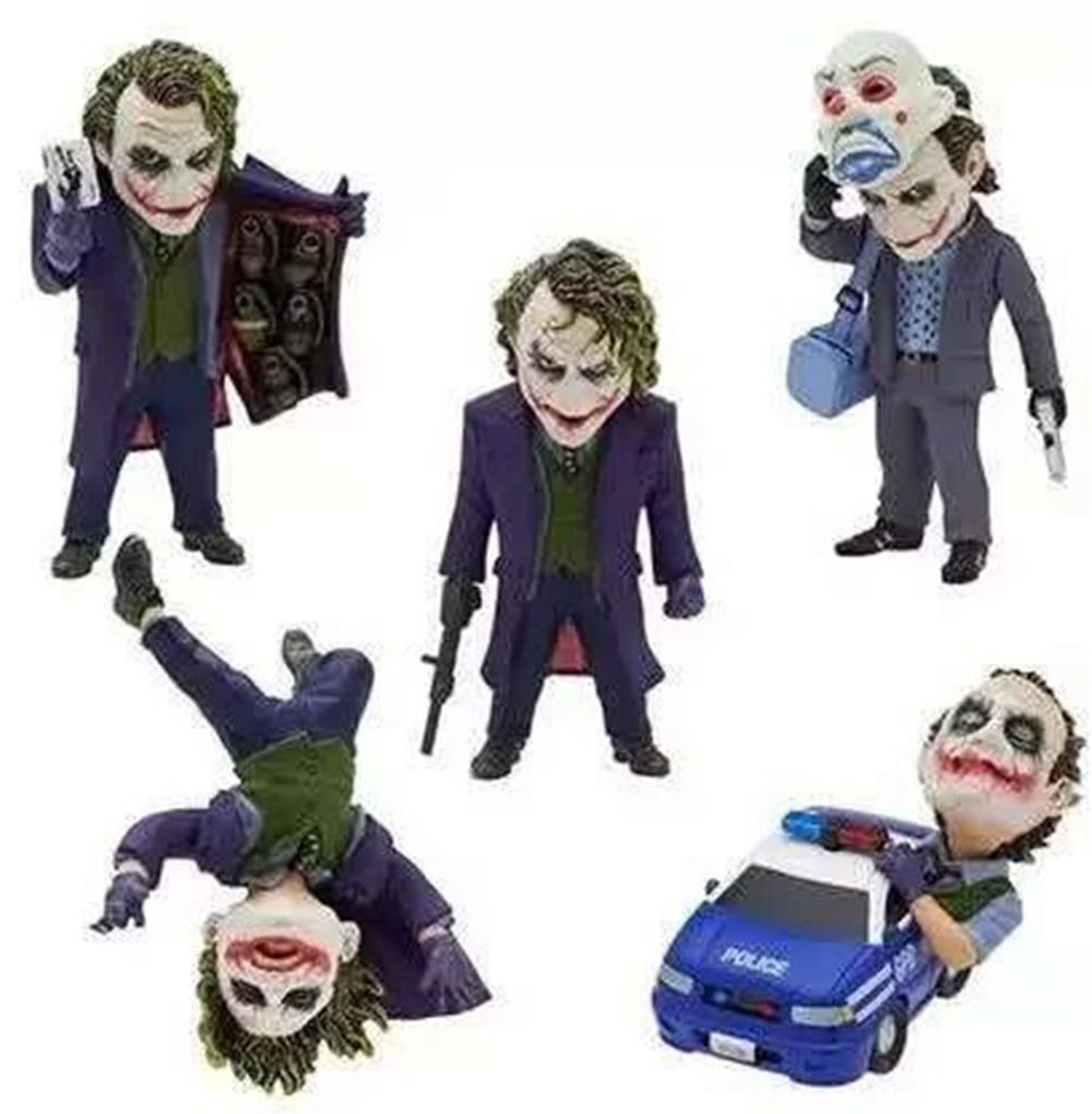 5Pcs/set DC Comics Model Batman Joker Clown 5 cm /1.97 Inch Toy Doll Model Action Figures Toys for Gifts