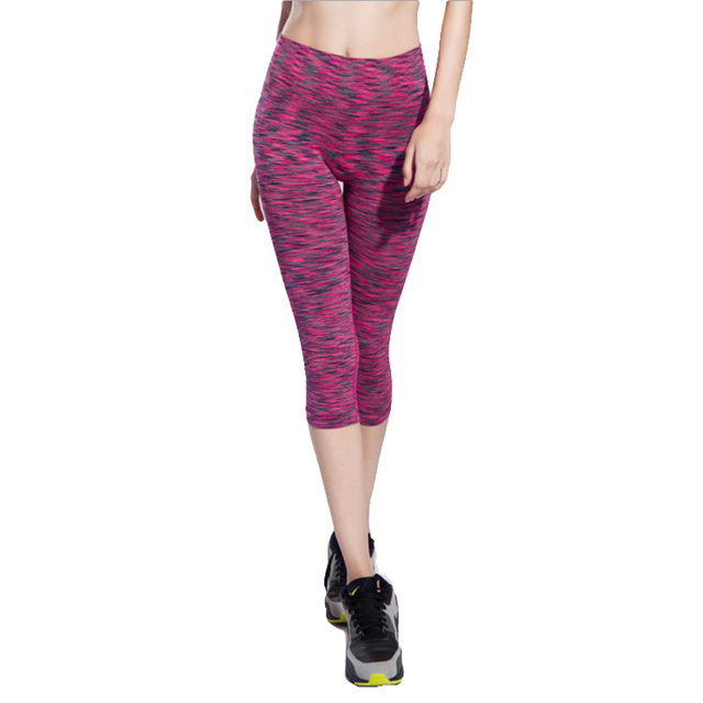 2016 New Summer  Women Leggings Solid Knitted Woman Pants leggins Solid Mid-Calf Pants Exercise trousers women 6colors