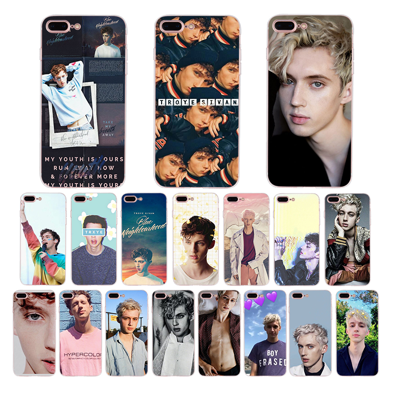 HOUSTMUST Troye Sivan photo Soft case for iphone x xr 7 8 xs max 6  6s plus cover 10 5s 5 se silicone shell accessories Coque