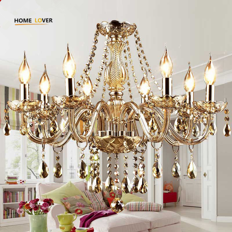 Modern Crystal Chandeliers Home Lighting lustres de cristal Ceiling Decoration Chandelier Pendants Living Room Indoor candelabro modern crystal chandelier light living room decoration crystal pendants and chandeliers home lighting indoor lamp e14 led candle