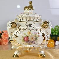 Ceramic candy jar storage tank The spring comes in full form. decoration luxury decor decoration crafts Home Furnishing