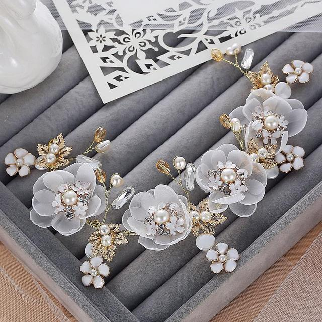 Silk flower hair accessories midway media fabric flower hair clip chiffon artificial flowers for headband mightylinksfo