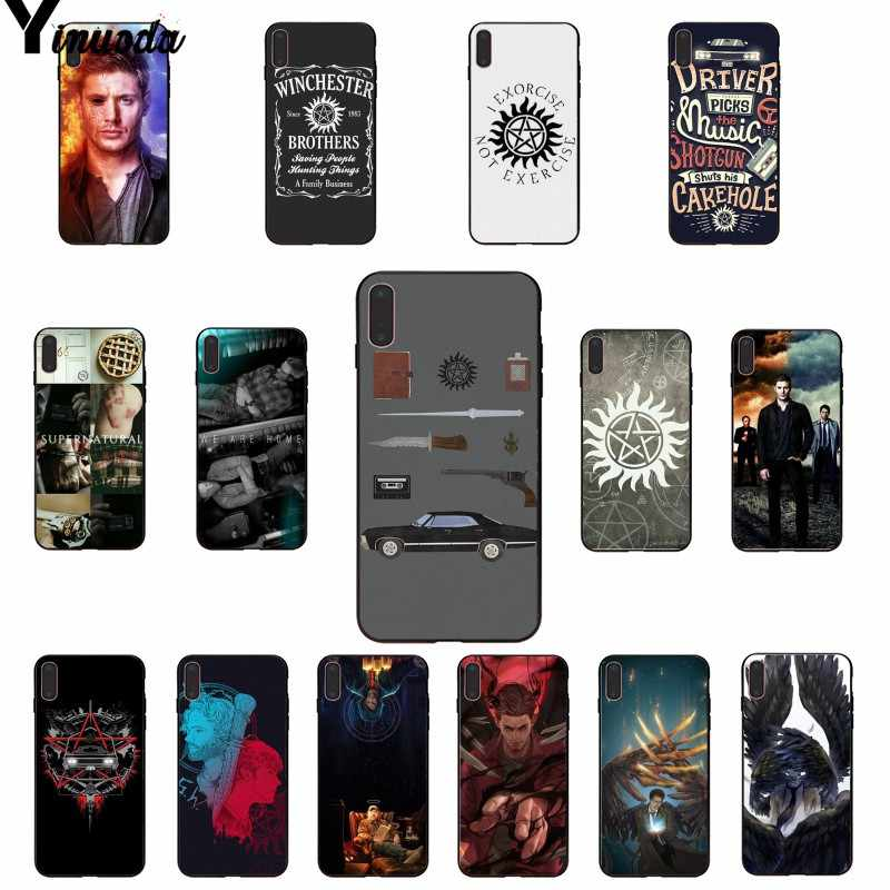Yinuoda Supernatural SPN Jensen Ackles Pattern TPU Soft Phone Case for iPhone 8 7 6 6S Plus 5 5S SE XR X XS MAX Coque Shell