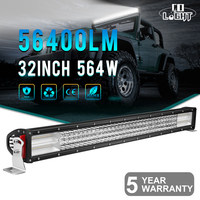 COLIGHT 32inch 564W 1PCS 4 Row CREE Chips Straight LED Light Bar Offroad Led Work Driving