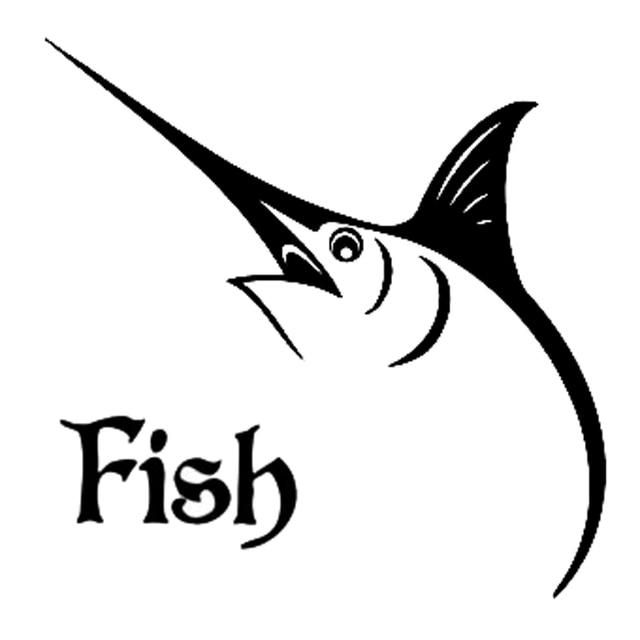 11 3cm11 2cm fish marlin fishing car styling car sticker vinyl decal s4
