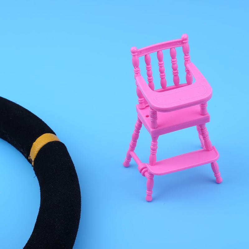 Superb Beschreibung: Einzelteilname: Puppe Esszimmerstuhl Spielzeug. Material:  Kunststoff Farbe: Rosa Größe: Ca. 12x5x5 Cm/4.7x2.0x2.0in