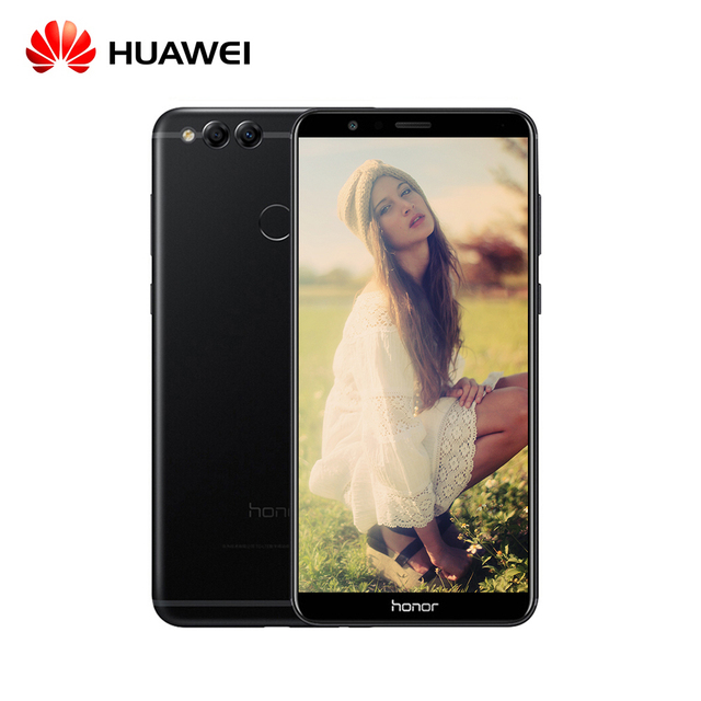 """Оригинальный Huawei Honor 7x5.93 """"полный Экран 2160*1080 Octa Core 2.4 ГГц двойной сзади Камера 16mp android 7.0 OTA смартфон"""