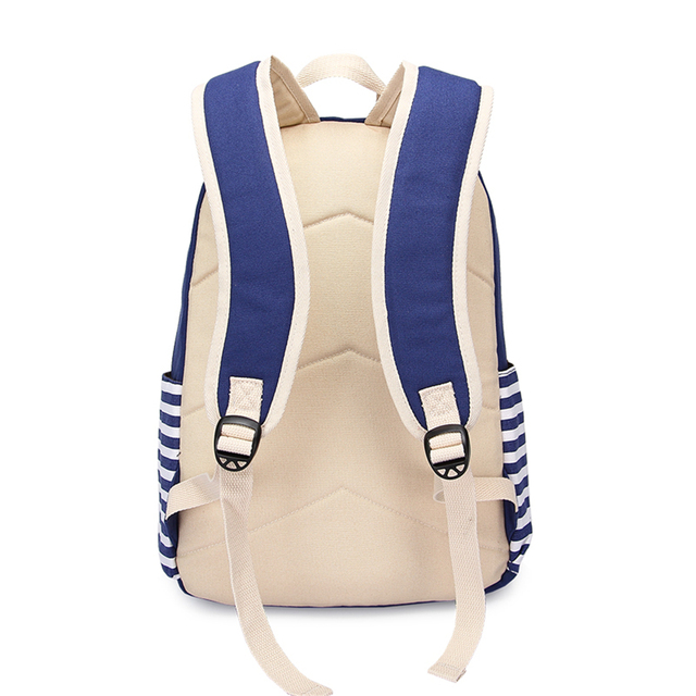 3pcs/set Canvas Fringe Women Backpack Student Book Bag with Purse Laptop Bagpack Lady School Bag for Teenager Girls 4