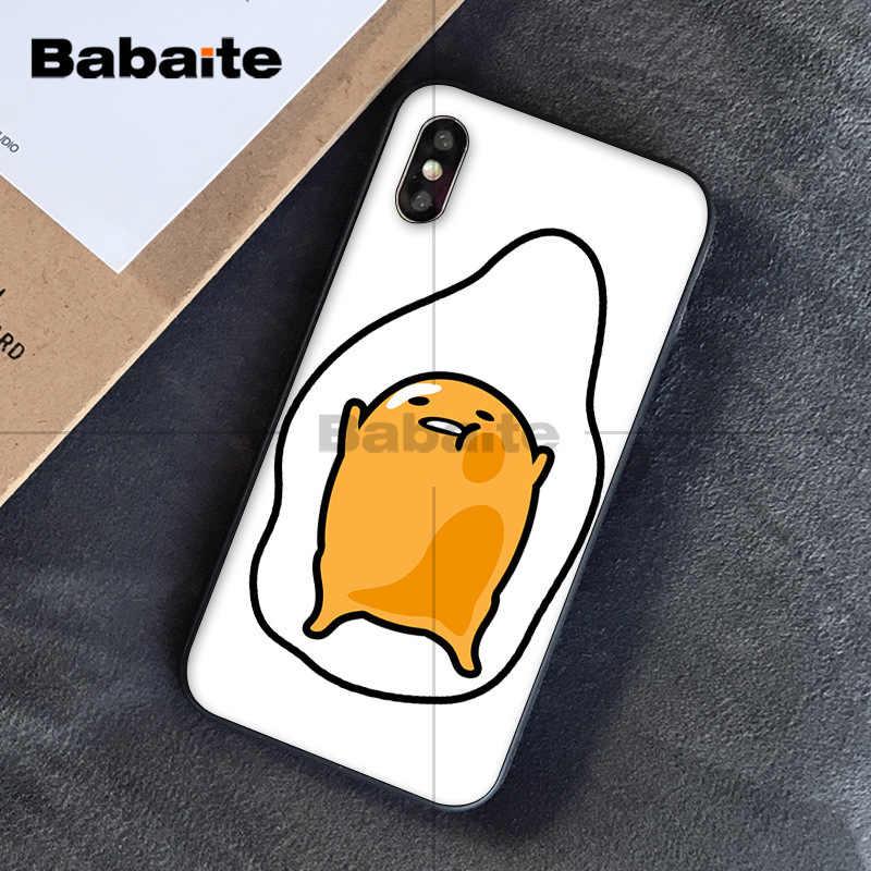 Babaite bonito adorável gudetama ovo preguiçoso cliente de alta qualidade caso telefone para apple iphone 8 7 6 s plus x xs max 5 5S se xr capa