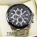 Data Analógico relógio de Quartzo Relógios De luxo Preto Relógios Homens Inoxidável Relógio De Pulso de Mergulho
