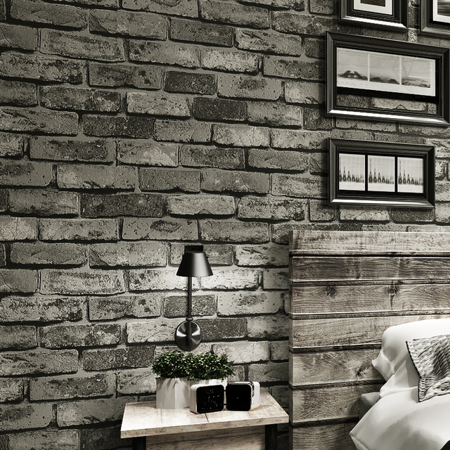 Vintage Stone Brick Textured Wallpaper For Walls Home Decor 3D Embossed Wall Paper Rolls Bedroom Living