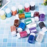 36 piezas de colores mezclados pigmentos coloridos polvo de perla de Mica para manualidades de Arte de uñas DIY proyectos de limo que hacen suministros