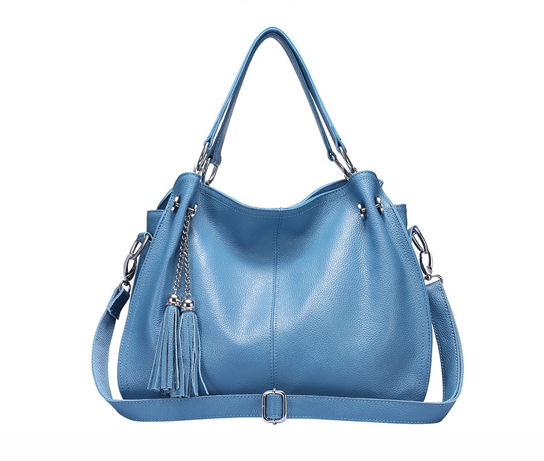 Bolsa de couro genuíno das mulheres bolsa