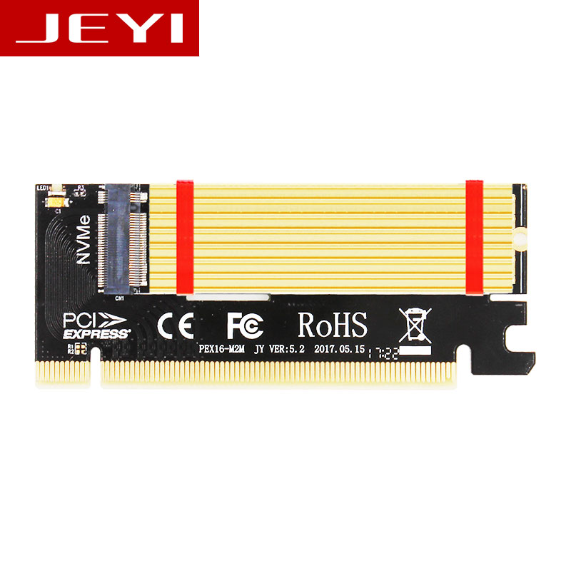 JEYI Swift MX16 M.2 NVMe SSD NGFF TO PCIE 3.0 X16 Adapter M Key Interface Card Suppor PCI Express X16 2280 Size M.2 FULL SPEED