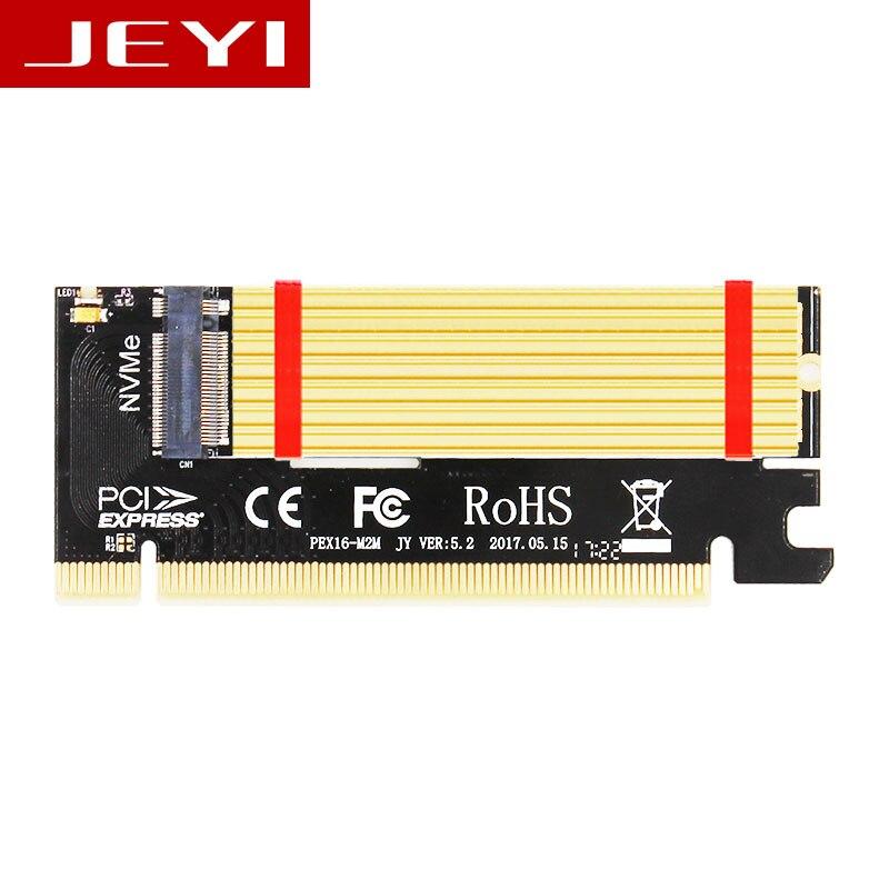 Jeyi SWIFT MX16 M.2 NVMe SSD ngff PCIe 3.0x16 adaptador M interfaz clave suppor tarjeta PCI Express x16 2280 tamaño m.2 velocidad completa