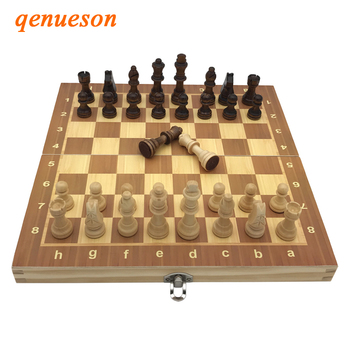 High Quality Factory wholesale Chess Classic Wooden Chess Set Board Games Foldable Magnetic Folding Board Packaging Wooden Chess high quality chess magnetic mini portable plastic chess set board games for friends children s