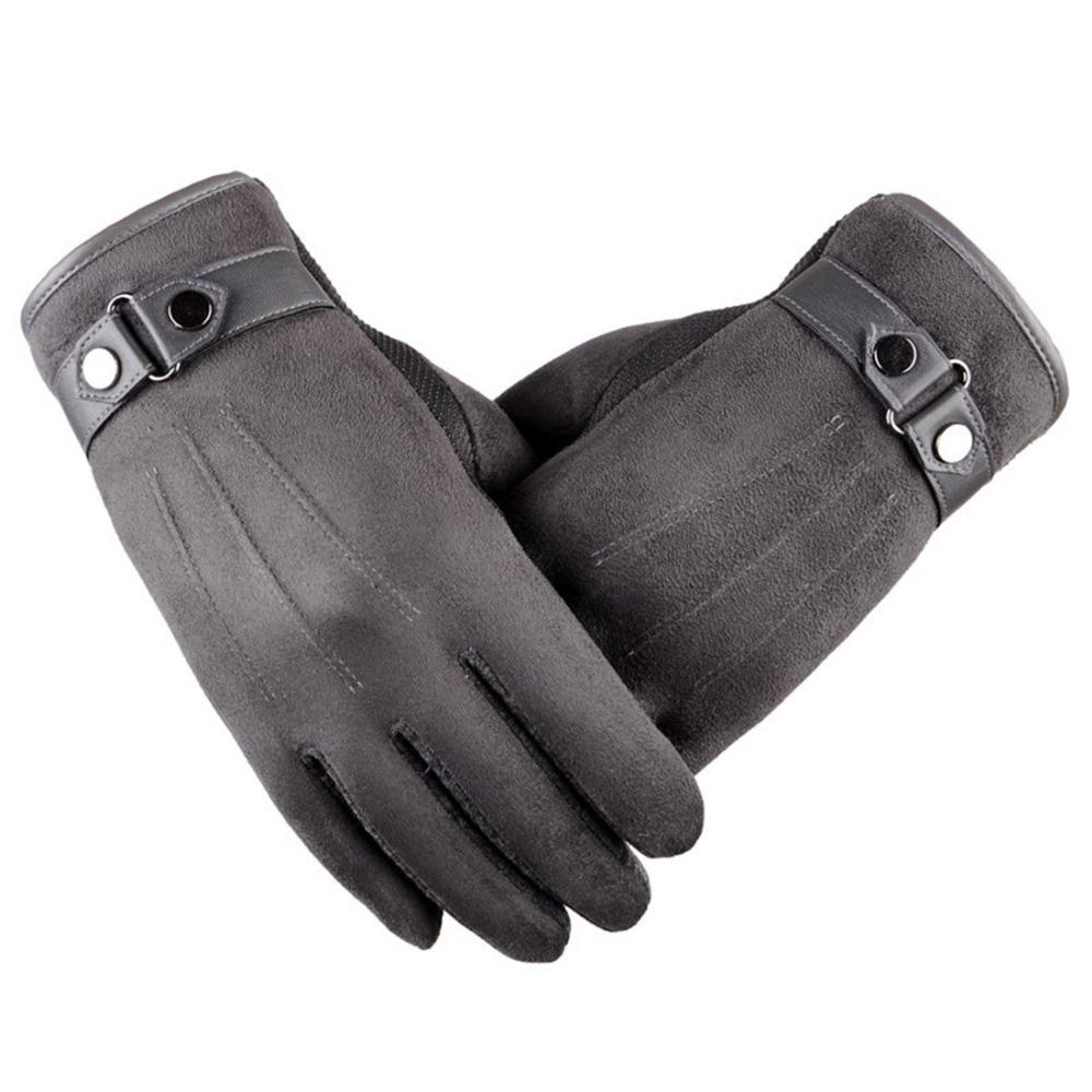 Téli kesztyű férfiak csípős meleg ujjatlan férfi kesztyű Megható a kesztyű a szúró telefon / Ipad hőmérő kesztyű