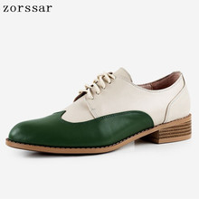 Genuine Leather Oxford Shoes Women Flats 2019 Fashion Women Shoes Casual Moccasins Loafers Ladies Shoes sapatilhas zapatos mujer