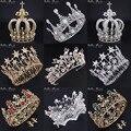 Wedding decoration Bridal Bridesmaid Crystal Tiara Girls gold Plated Metal Crystal Tiara Crown Party Headband Princess Crown