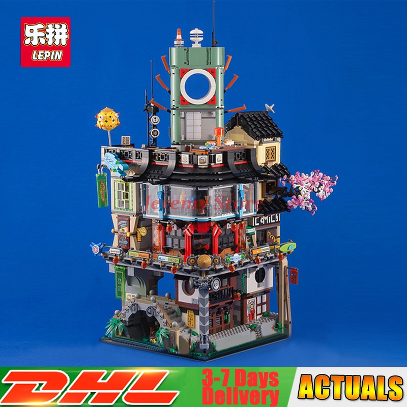 2017 DHL Lepin 06066 Construction Model Creative City 4932pcs Modular Building Blocks DIY Toys Bricks Compatible 70620 as Gift lepin 22001 pirate ship imperial warships model building block briks toys gift 1717pcs compatible legoed 10210