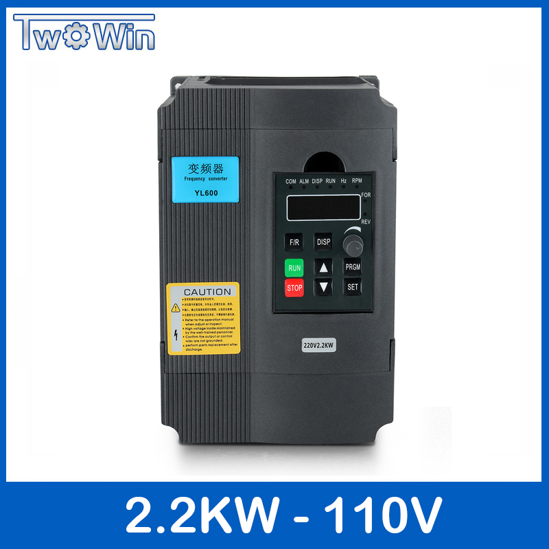 Twowin 2.2KW 220 V VFD convertisseur variateur de fréquence 1HP entrée 3HP sortie pour CNC moteur pilote contrôle de vitesse nouveau