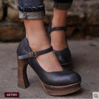 Artmu/модные женские туфли лодочки ручной работы, кожаные туфли на высоком каблуке 9,5 см, деловые модельные туфли, женские туфли лодочки с пряж