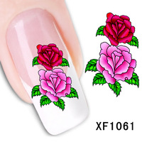 2017 Real Sale Manicure Nails 2 Sheet Nail Stickers Flower Simulation Watermark Affixed To The Tube Row Of Pens A Month Xf1061