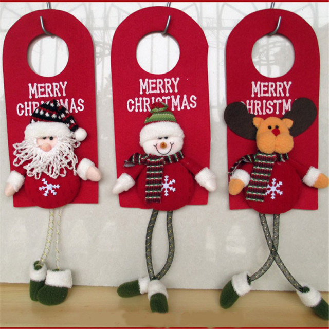Christmas Tree Decor Ornaments Xmas Home Door Decoration Santa Claus Snowman Reindeer YL873670
