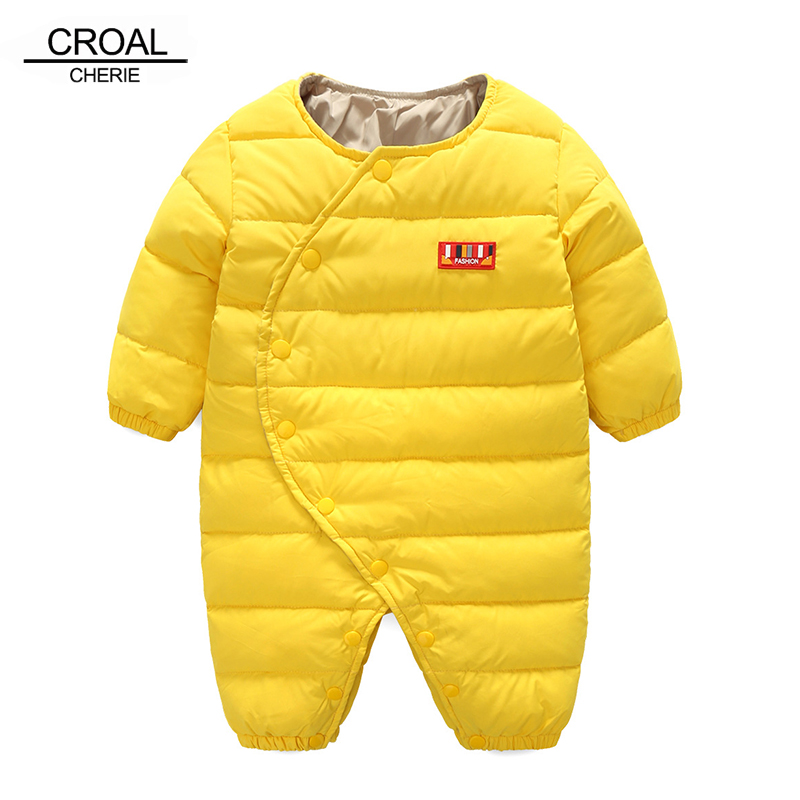 CROAL CHERIE 60-80cm 90% Duck Down Winter Baby Clothes Thicken Newborn Infant Girls Clothes Boys Romper For Children cherie cherie lip balm mint